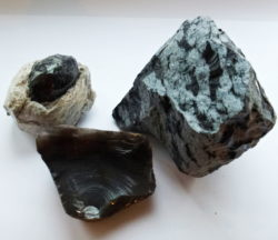 Obsidian natural volcanic glass